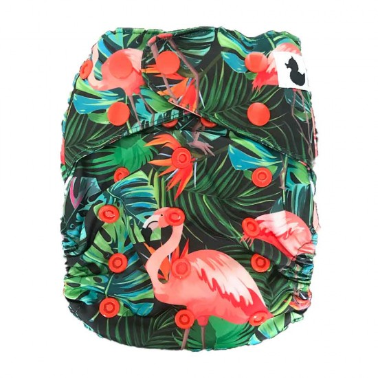 Fluffy Ducks OSFM Nappy (2-in-1 : AI2 snap-in and pocket)