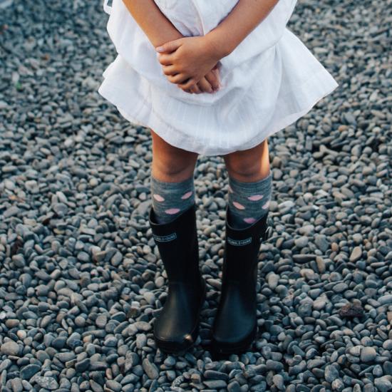 Lamington Merino Knee High Socks - Pompom