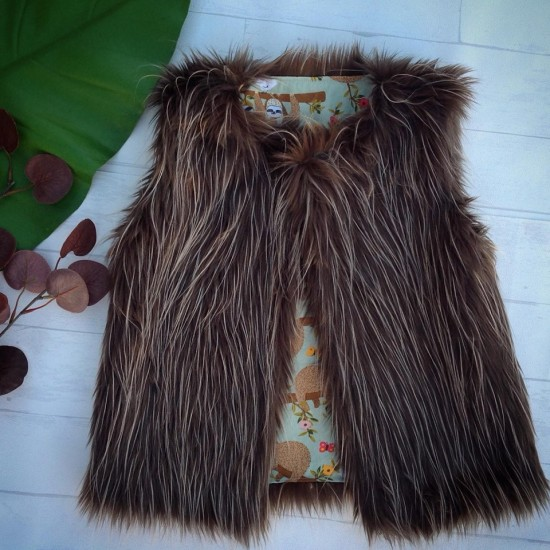 Lil'es Reversible Faux Fur Vest - Hanging Out