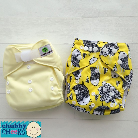 Bear & Moo + Cherub Tree Pocket Style Reusable Cloth Nappy Trial Pack