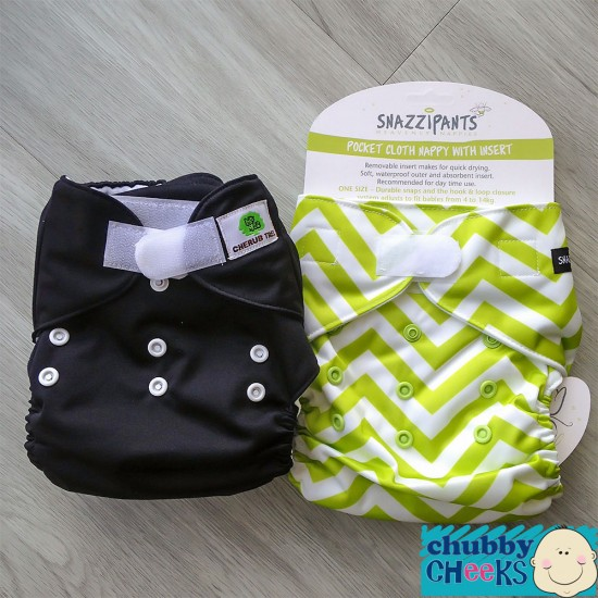 Snazzipants (Pocket) + Cherub Tree (Pocket) Cloth Nappy Trial Pack