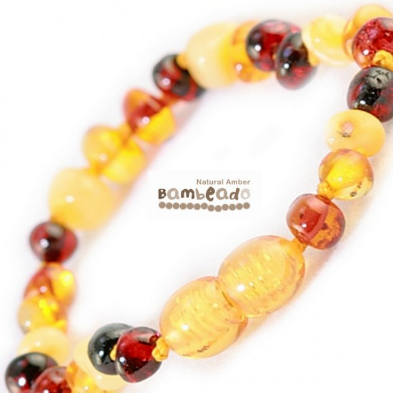Bambeado Baltic Amber Bracelet for Babies and Toddlers